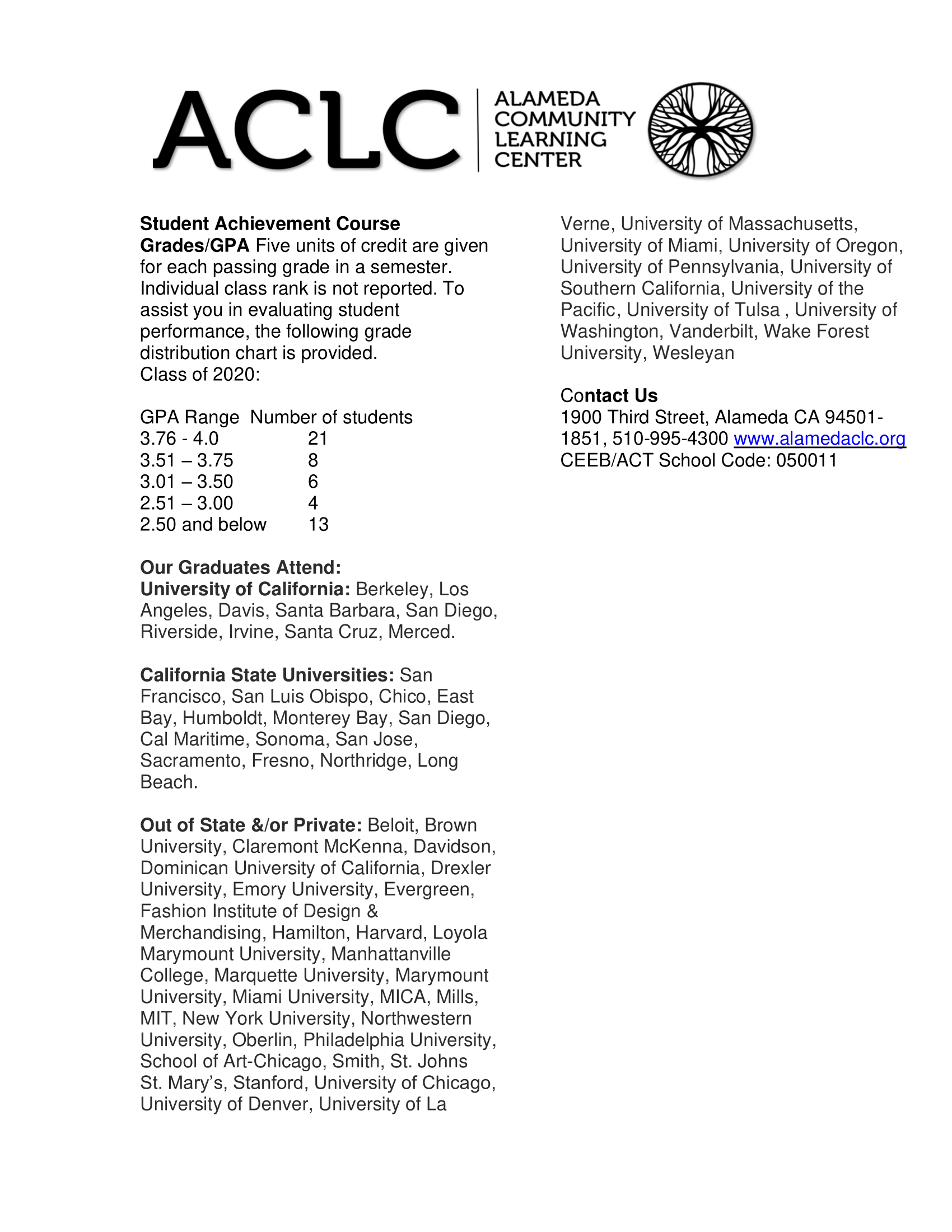 Image of ACLC School Profile p2